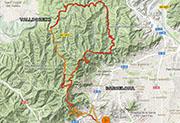 mapa valldoreix barcelona-red